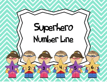Number Line -  Superhero Theme