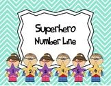 Number Line -  Superhero Theme
