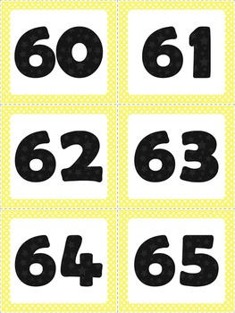 Number Line - Sweet and Sunny Theme {Yellow and Grey}