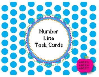6th Grade Number Line Task Cards