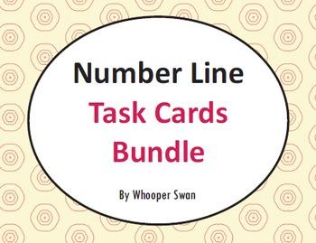 Number Line Task Cards Bundle