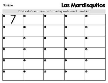 Number Line Task Cards [Spanish / English]