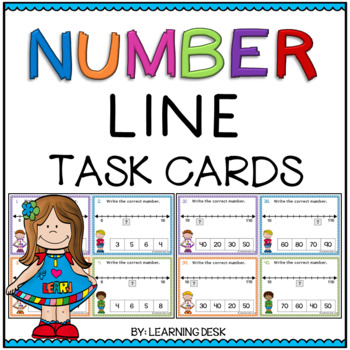 Number Line Task Cards: Write the number