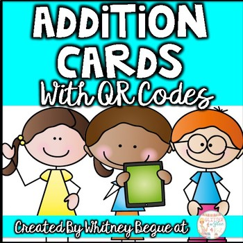Addition Number Line Task Cards with QR Codes