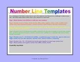 Number Line Templates Fractions, Decimals, Percents, Negat