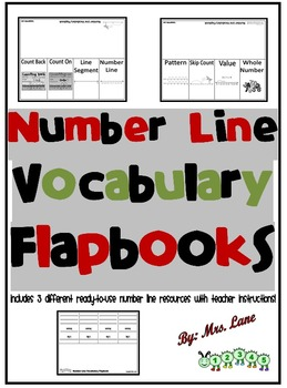 Number Line Vocabulary Flapbooks