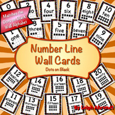 Number Line Wall Cards - Dots on Black