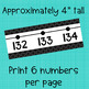 Number Line Wall Display -36-202 ~ Black and White