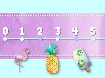 Number Line: Watercolor Classroom Decor