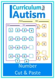Number Line 1-20 Cut & Paste Autism Special Education