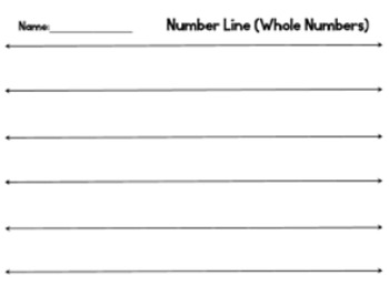 Number Line - Whole Numbers