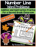 Number Line Word Problems-Leveled for Differentiation {Fal