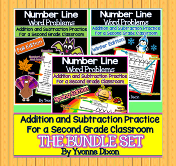 Number Line Word Problems-Leveled for Differentiation {Bundle Edition}