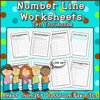 number line worksheets for place value in the thousands by amber thomas. Black Bedroom Furniture Sets. Home Design Ideas