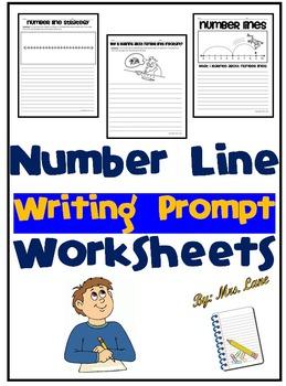 Number Line Writing Prompt Worksheets