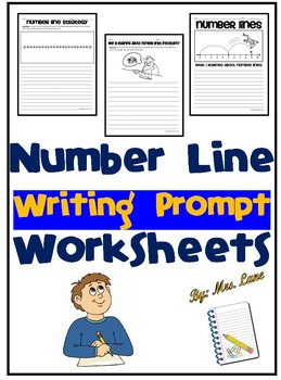 Number Line Writing Prompt Worksheets