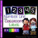 Classroom Decor Labels - Number Line and Class Labels BRIGHT