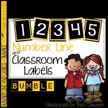 Classroom Decor Labels - Number Line and Class Labels BUMBLE