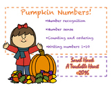 Printable Number Line and Number Cards- Pumpkin Theme