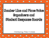 Number Line and Place Value Organizers and Student Respons