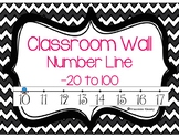 Number Line for Classroom Wall
