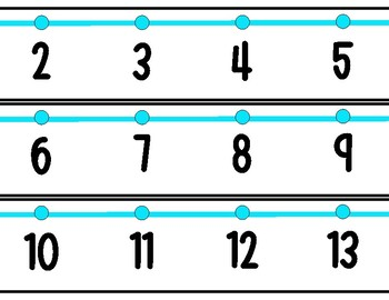 Number Line for wall