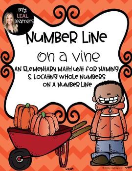Number Line on a Vine: Pumpkin Number Line Activities (Full Version)