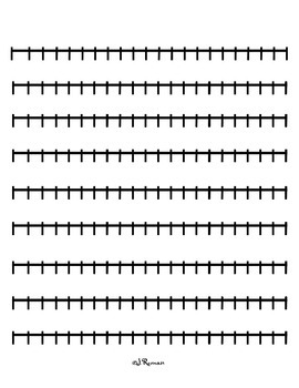 Number Line strips (0-120)
