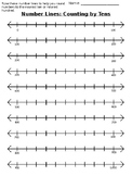 Number Line to 1,000 - Counting by Tens