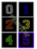 Number Line using Calendar Math Color Pattern