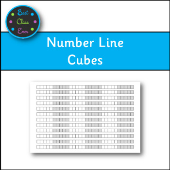 Number Line with Cubes 11X17