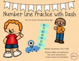Number Line with Dash Robot