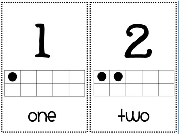 Number Line with Ten Frame and Written Number Words