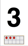 Number Line with # Words, Neg. #s, Ordinal #s & Ten Frames w/ #s