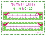 Number Lines 0 - 10 & 0 - 20