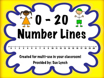 graphic regarding Printable Number Line 1-20 identify Range Strains (0-20) FREEBIE! Coloration and Black White