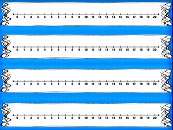image relating to Printable Number Lines to 20 identify Variety Strains (0-20) FREEBIE! Coloration and Black White