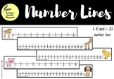 Number Lines 1-10 & 1-20