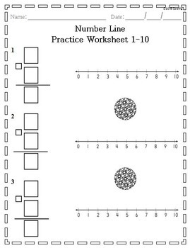 Number Lines 1-10 and 1-20 Practice