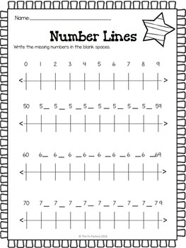 Number Lines 1 to 120