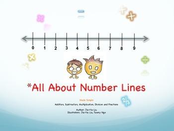 Number Lines, ebook/handout, Add, Subtract, Multiply, Divi