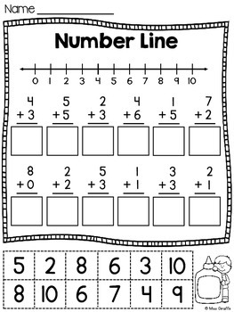 Number Lines Cut and Paste Worksheets