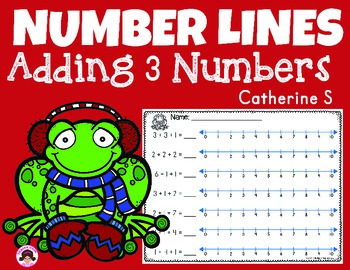 Addition on a Number Line - 3 Numbers