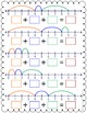 Addition on a Number Line Worksheets - 3 Numbers