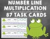 Multiplication on a Number Line Task Cards