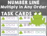 Multiplication on a Number Line Task Cards