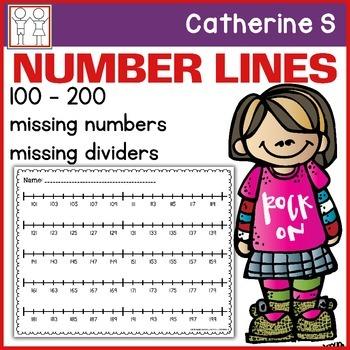 Number Lines Missing Numbers