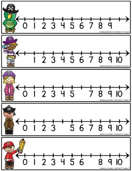Number Lines Missing Numbers Task Cards