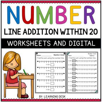 Number Lines Addition Worksheets