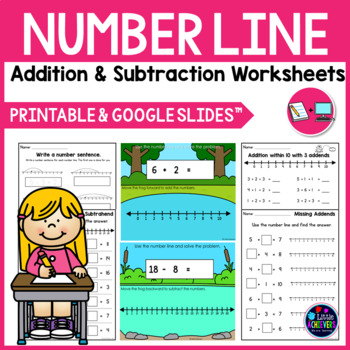 Number Line Addition and Subtraction Worksheets | Number Line Activities